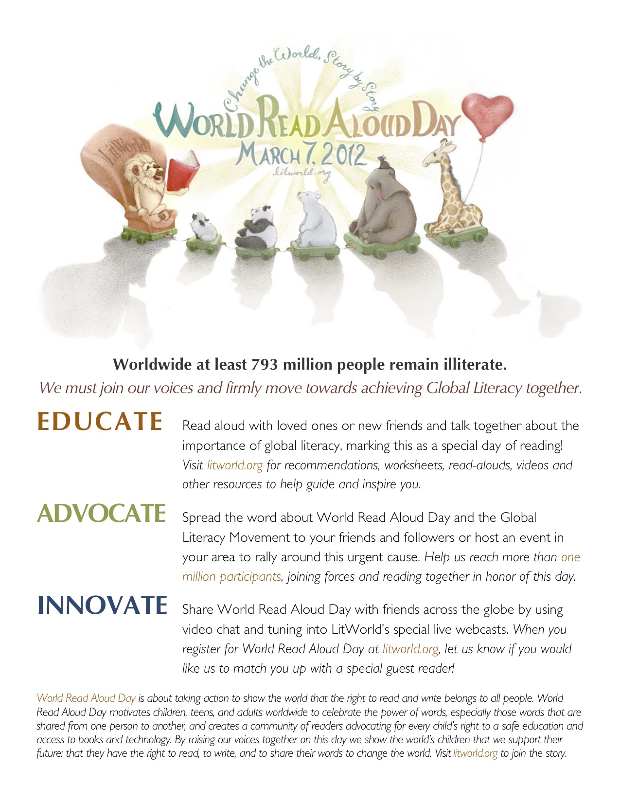 LitWorld Educate Advocate Innovate