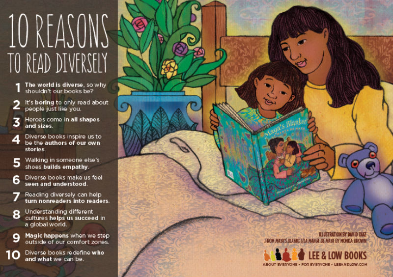 10 Reasons To Read Diversely from Lee and Low Books